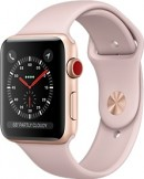 Apple Watch Series 3 42mm Gold Aluminium Case with Pink Sand Sport Band