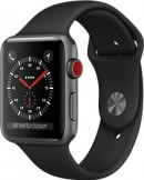 Apple Watch Series 3 42mm Space Grey Aluminium Case with Black Sport Band deals