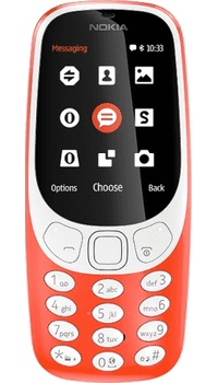 Nokia 3310 2017 Red on Pay As You Go