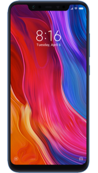 Xiaomi Mi 8 64GB Blue on Unlimited + Unlimited + 100GB at £27