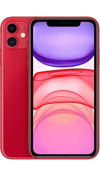 Apple iPhone 11 64GB (PRODUCT) RED on Unlimited + Unlimited + 100GB at £39