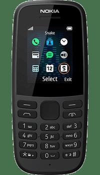 Nokia 105 2019 Black on Sky Mobile